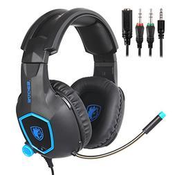 SADES Gaming Headset,SA818 3.5mm wired Over-ear Gaming Headp