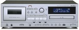 TEAC AD-850 Cassette Deck CD player silver Free Ship w/Track