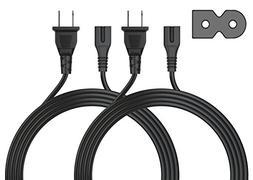 Pwr UL Listed IEC-60320 IEC320 C7 to NEMA 1-15P 2 Pack Long