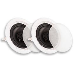 Acoustic Audio HTI-6C In Ceiling 6.5 Speaker Pair 2 Way Home