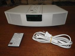 Bose Acoustic Wave Clock Radio AWR1-1W with Remote and Pedes