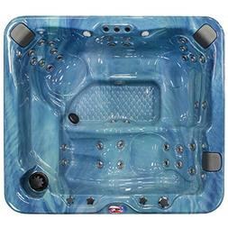 American Spas AM-637LP 5-Person 37-Jet Lounger Spa with Blue