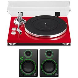 "Teac 2-Speed Analog Turntable Red  with 3"" Creative Referenc"