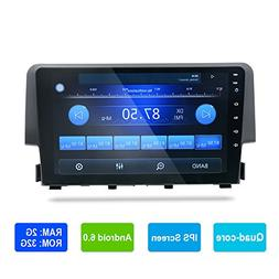 Android 6.0 Car Stereo for Honda Civic 2016 GPS Navigation R