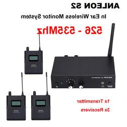 ANLEON S2 UHF Wireless Stereo In Ear Monitor System 1 Transm