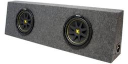 "ASC Package Dual 12"" Kicker Sub Box Regular Cab Truck Subwoo"