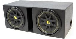 "ASC Package Dual 15"" Kicker Sub Box Vented Port Rhino Coated"