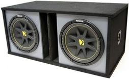 "ASC Package Dual 15"" Kicker Sub Box Vented Port Paintable Su"
