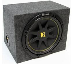"ASC Package Single 10"" Kicker Sub Box Sealed Rearfire Subwoo"