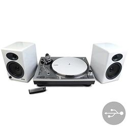 Audio-Technica: AT-LP120-USB Turntable + Audioengine A5+ Spe