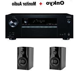 Onkyo Authentic Audio & Video Component Receiver Black  + Pa