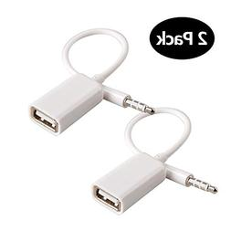 AUX to USB Adapter 3.5mm Male AUX Audio Jack Plug to USB 2.0