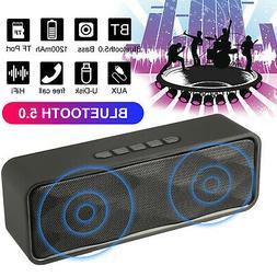 Bluetooth 5.0 Speaker Wireless Portable Outdoor Stereo Bass