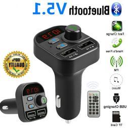 Bluetooth 5.1 Wireless FM Transmitter MP3 Radio Adapter Car