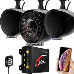 Bluetooth ATV UTV RZR Polaris Stereo 3 Speakers Audio 600W A