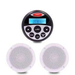 Bluetooth Marine Stereo Audio system Gauge Radio+ Waterproof