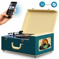Pyle Vintage Turntables stereo system   Retro vinyl record p