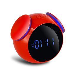 Bluetooth Wireless Speaker With Dual Alarm Clock 3.5Mm Aux L