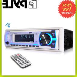 Boat Pyle Bluetooth Marine Stereo AM FM Radio Receiver Syste