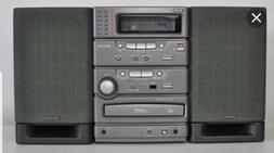 BRAND NEW In Box VINTAGE Denon D-C1 Radio 6 CD Cassette Comp