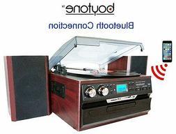 Boytone BT-24DJM Bluetooth Record Player Turntable Stereo Sy