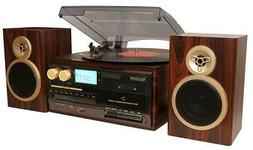 Boytone BT-28SPM 3-Speed Bluetooth Turntable, Record Player,