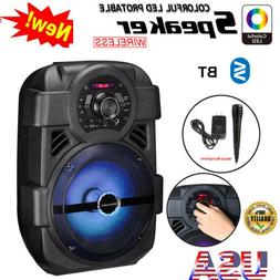 bt party speaker system bluetooth big led