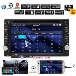 Camera GPS Car Radio Stereo USB CD DVD Bluetooth Navigation