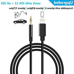 Aux Cord Compatible with iPhone, 3.5mm Male Stereo Audio Cab