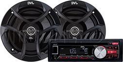 JVC Car Radio Receiver with CD Player & USB/MP3 Port, Single