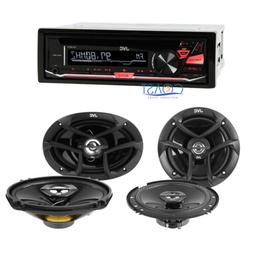 """JVC Car Radio Stereo Receiver with 6""""x 9"""" & 6.5"""" Speakers Co"""