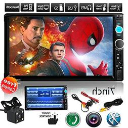 "Free Car Rear View Camera + Double Din 6.2"" Touch Screen in"