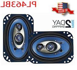 PYLE Car Speaker 4'' x 6'', 3 Way 240 Watt  Sound Mid Range