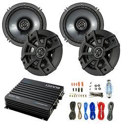 Car Speaker And Amp Combo: 4x Kicker 43CSC654 600-Watt 6-1/2