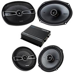 Car Speaker Bluetooth Streming Set Bundle Combo With 2 Kicke