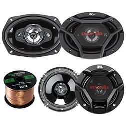 "Car Speaker Bundle Combo: 2x JVC DR620 6.5"" 2-Way 600 Watt A"