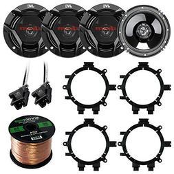 "Car Speaker Package Of 4X JVC CS-DR620 6.5"" Inch 300 Watt 2-"