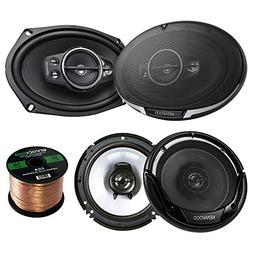 2 Pair Car Speaker Package Of 2x Kenwood KFC-6995PS 1300-Wat