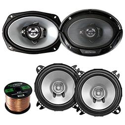 "2 Pair Car Speaker Package of 2X Kenwood KFC-C1355S 5 1/4"" 2"