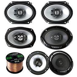 3 Pair Car Speaker Package of 2X Kenwood KFCC6866S 6x8 250 W
