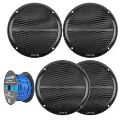 Car Speaker Package Of 2 Pairs of Enrock EKMR1672B Marine Bo