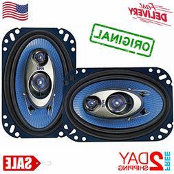"""Car Speakers 4"""" X 6"""" 240 Watt 3 Way Full Loud Range Auto Ste"""