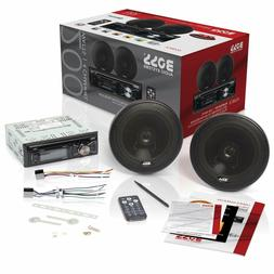 BOSS Audio Car Stereo Speaker System Players Single Din, Blu