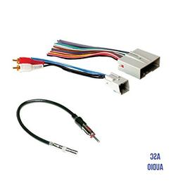 ASC Audio Car Stereo Wire Harness and Antenna Adapter to ins