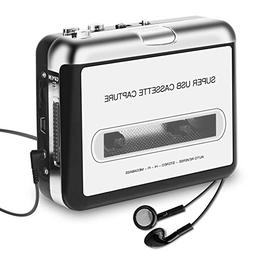 Cassette Player Portable, ASINNO Cassette Player to MP3 Conv