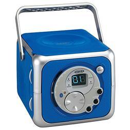 Jensen CD-555 Blue CD Bluetooth Boombox Portable Bluetooth M