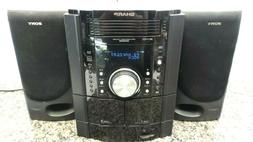 Sharp CD-DK890N Shelf Stereo System CD Tape  with Sony Speak