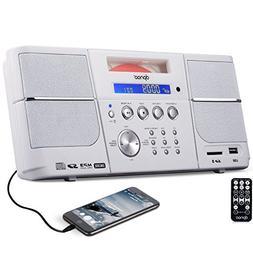 DPNAO CD Player Boombox Portable with FM Radio Alarm Clock U