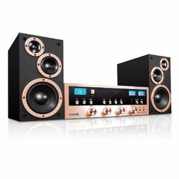 Bluetooth Wireless Stereo System with CD Player FM Radio Hom