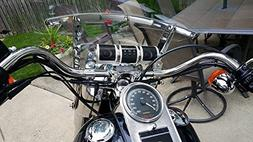 Kickstart Chrome Bluetooth MP3 Motorcycle Stereo System with